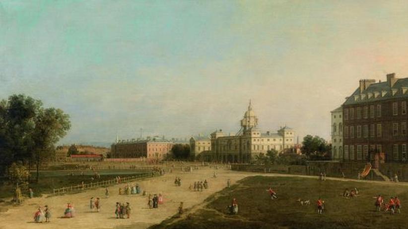 """Giovanni Antonio Canal, gen. il Canaletto (1697-1768): """"Blick auf New Horse Guards vom St. James's Park"""", London, Schätzwert € 2.000.000 - 3.000.000, Versteigerung am 17. Oktober 2012"""
