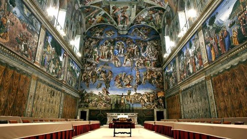 Sixtinische Kapelle Die Bosheit der Menschen hat mich emprt