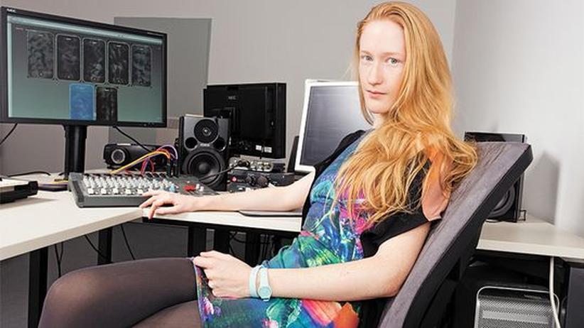 Britta Thie in ihrem Atelier
