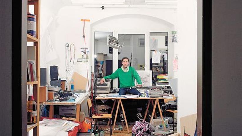 Dirk Krecker in seinem Atelier