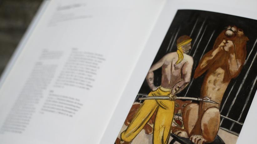 """Auktionshandel: Das Auktionshaus Lempertz veröffentlichte anlässlich der Auktion 2011 in seinem Katalog eine Abbildung von Max Beckmanns Gemälde """"Der Löwenbändiger"""", das mit 300.000 Euro aufgerufen wurde und letztlich den Zuschlag bei 720.000 Euro erhielt."""