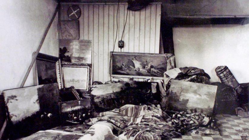 Fall Gurlitt: Archivbild von Heinrich Himmlers Raubkunstsammlung auf der Wewelsburg in Nordrhein-Westfalen