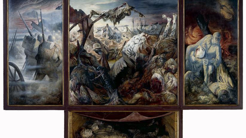 """Otto Dix: """"Der Krieg"""" von 1932. Klicken Sie auf das Bild, um das gesamte Bild zu sehen"""