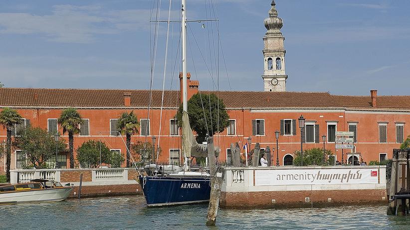 Venedig Biennale: Die Insel San Lazzaro mit Blick auf das armenische Kloster