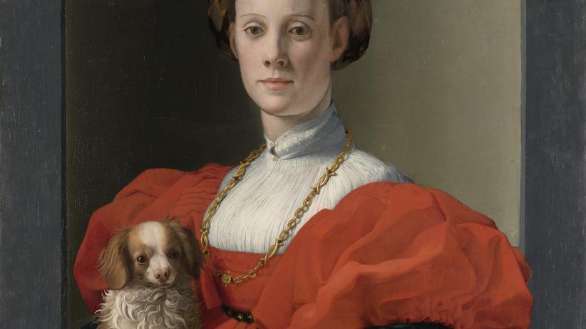 Städel: Agnolo Bronzino (1503–1572): Bildnis einer Dame in Rot, um 1533