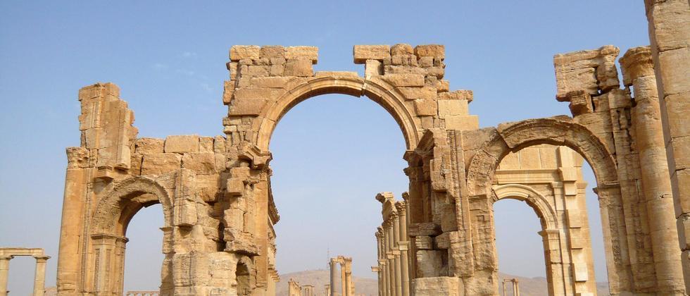 Die Ruinen von Palmyra