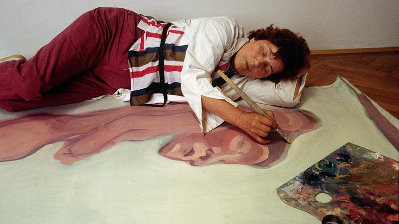 Maria Lassnig: Maria Lassnig 1983 in ihrem Wiener Atelier