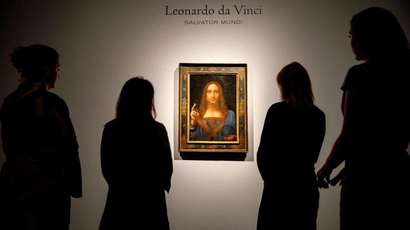 Da-Vinci-Gemälde : Das New Yorker Auktionshaus Christie's versteigerte das Da-Vinci-Gemälde für 450,3 Millionen Dollar.