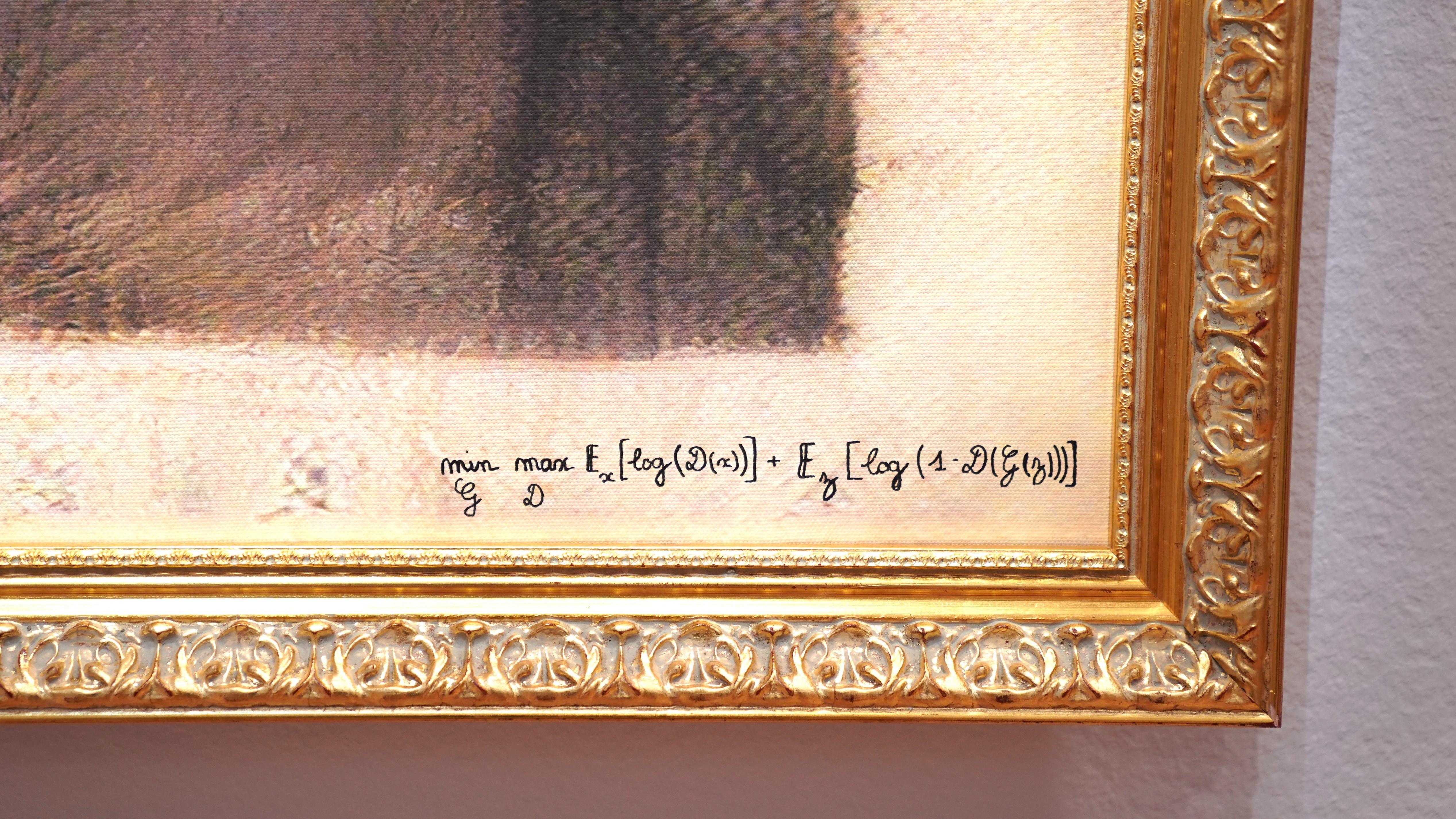 Quellcode auf Leinwand