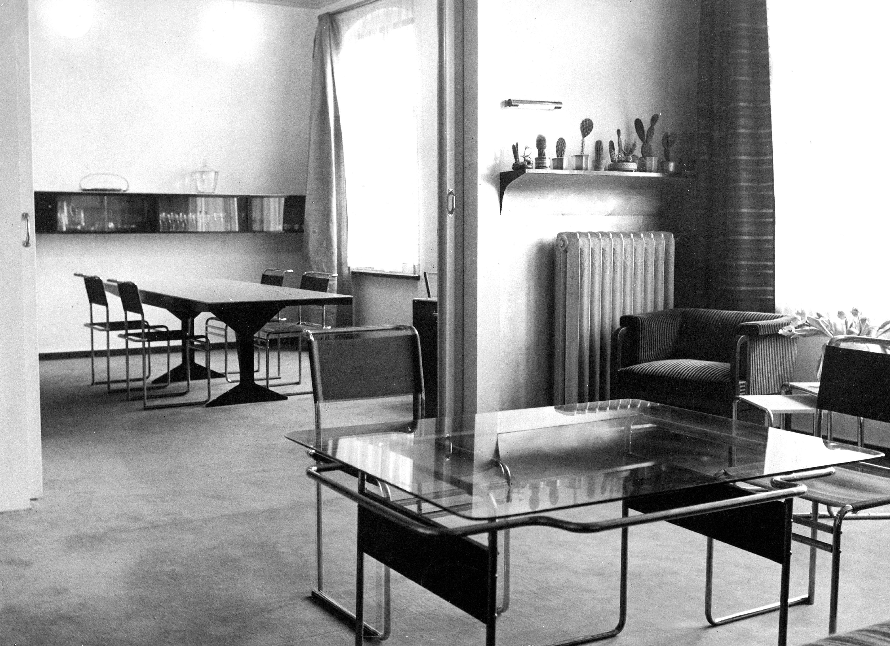 Marcel Breuer: Der Theaterdirektor Erwin Piscator hatte seine Wohnung mit Möbeln von Marcel Breuer ausgestattet, hier auf einem Bild von 1928.