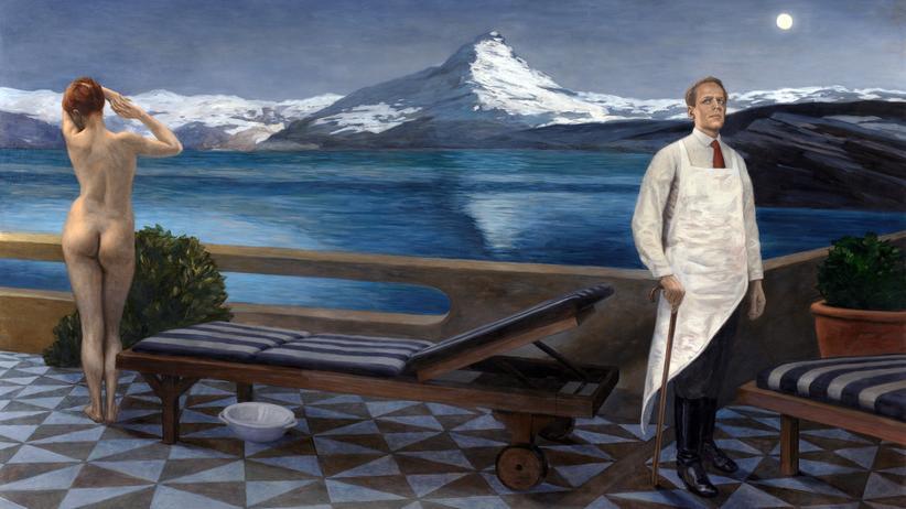 Axel Krause: Nackte Frau, Klaus Kinski und der Mond: Dieses Bild von Axel Krause war ursprünglich für die Leipziger Ausstellung geplant.