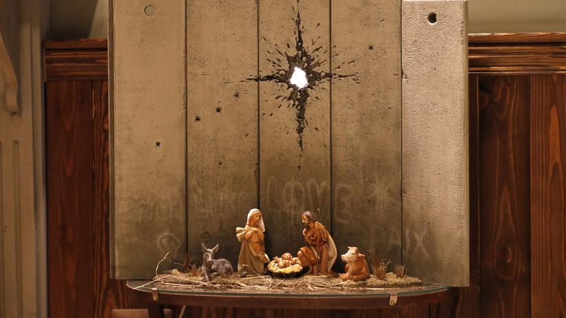 """Scar of Bethlehem"": Banksy hinterlässt Weihnachtsbotschaft im Westjordanland"