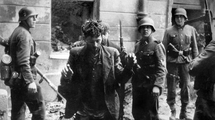 Jüdischer Gefangener im Warschauer Getto, 1943