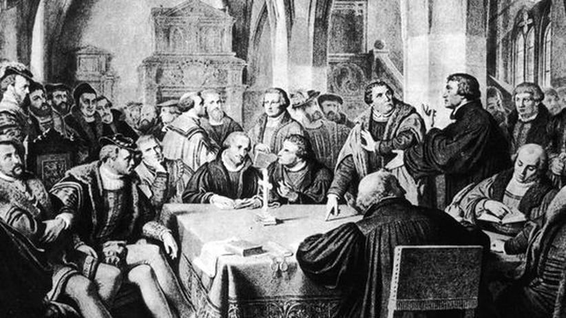 Religion: Eine Szene der Marburger Religionsgespräche 1529