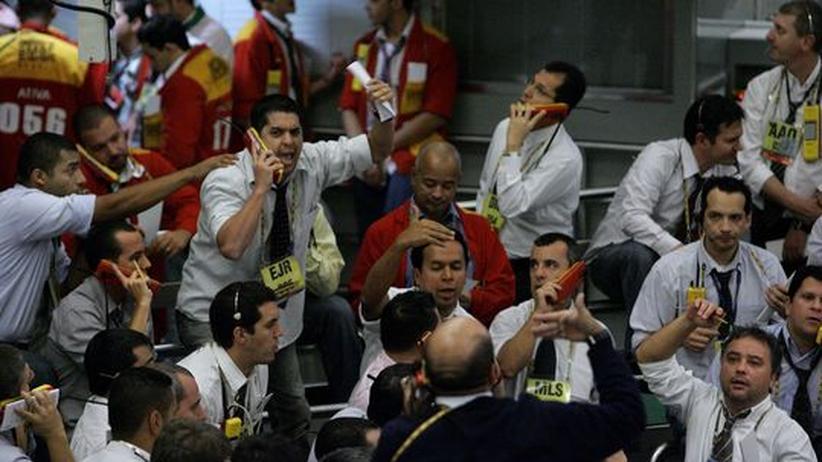 Wirtschaftskrise: Aufregung an der Börse in Sao Paulo