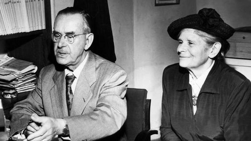 Familie Mann: Das Ehepaar Thomas und Katia Mann im Jahr 1951