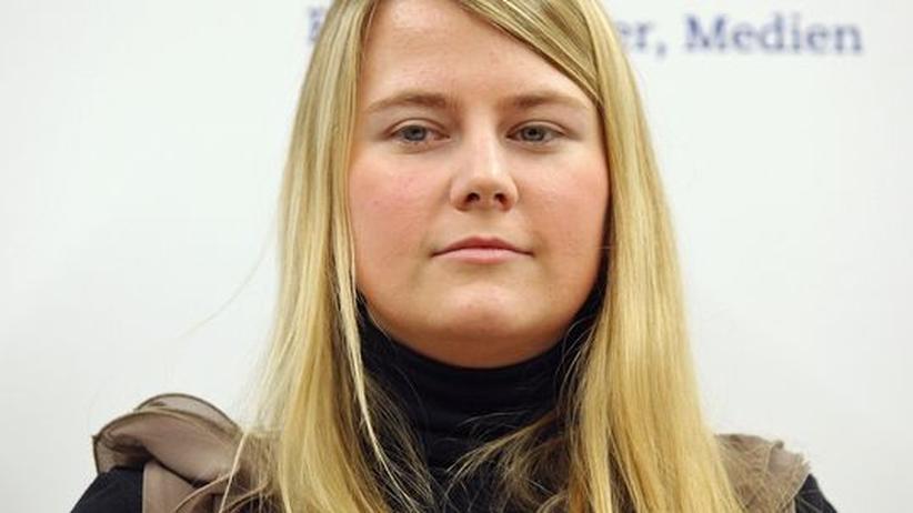 Natascha Kampusch: Natascha Kampusch während der Präsentation ihres Buches am 9. September in Wien
