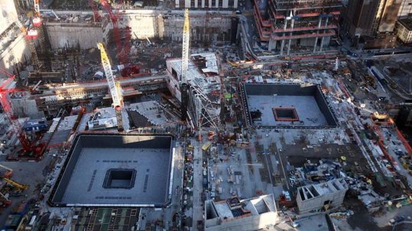 11. September: Die Baustelle der Gedenkstätte zum 11. September in New York