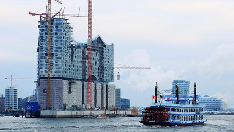 Kulturpolitik: Die Baustelle der Elbphilharmonie in Hamburg