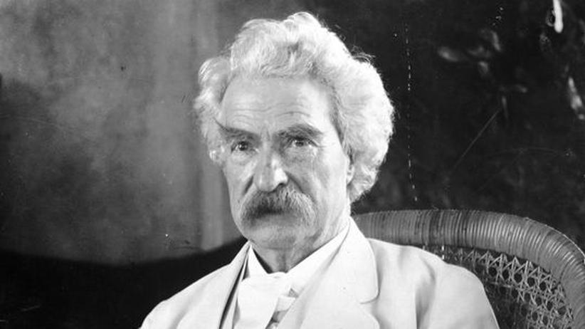 Mark Twain: Mark Twain, eigentlich Samuel Langhorne Clemens, um ca. 1900