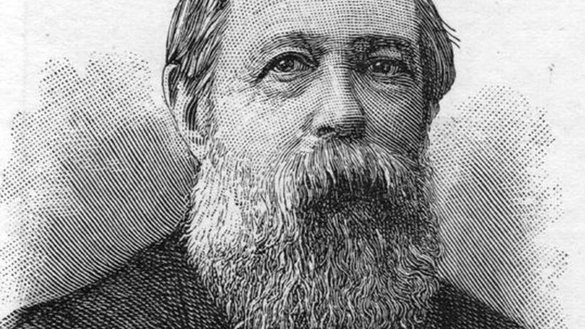 Engels-Biografie: Porträt von Friedrich Engels, circa 1880