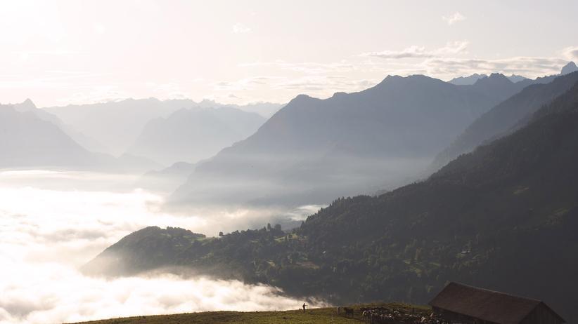 Blick auf die Alpen, Vorarlberg