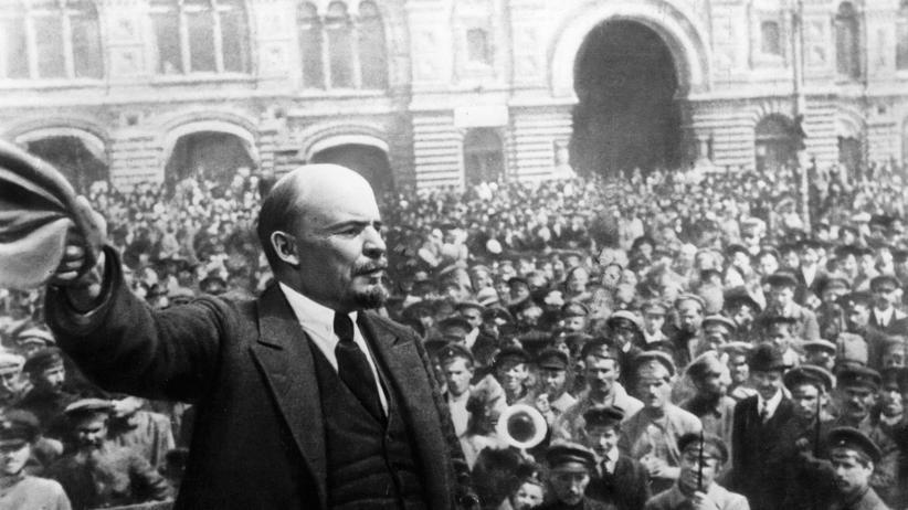 Lenin während der Russischen Revolution