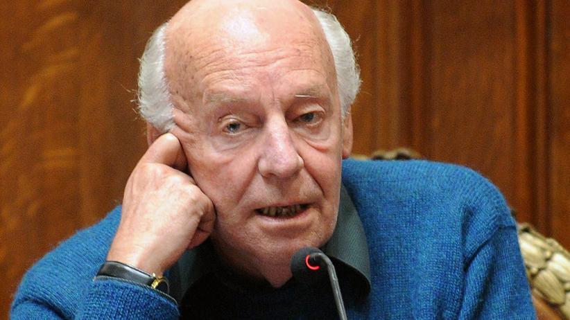 Uruguay: Der uruguayische Schriftsteller Eduardo Galeano bei einer Veranstaltung zum Thema Menschenrechte in Montevideo, Uruguay.