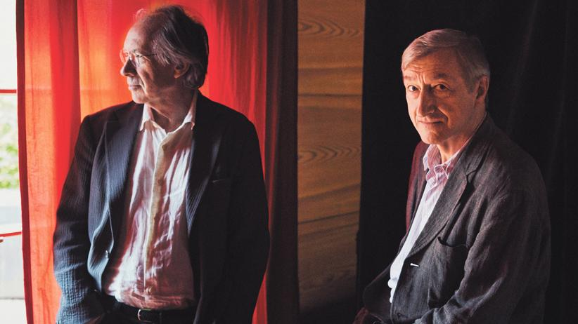 Ian McEwan und Julian Barnes: Die Schriftsteller Ian McEwan und Julian Barnes auf Schloss Elmau.