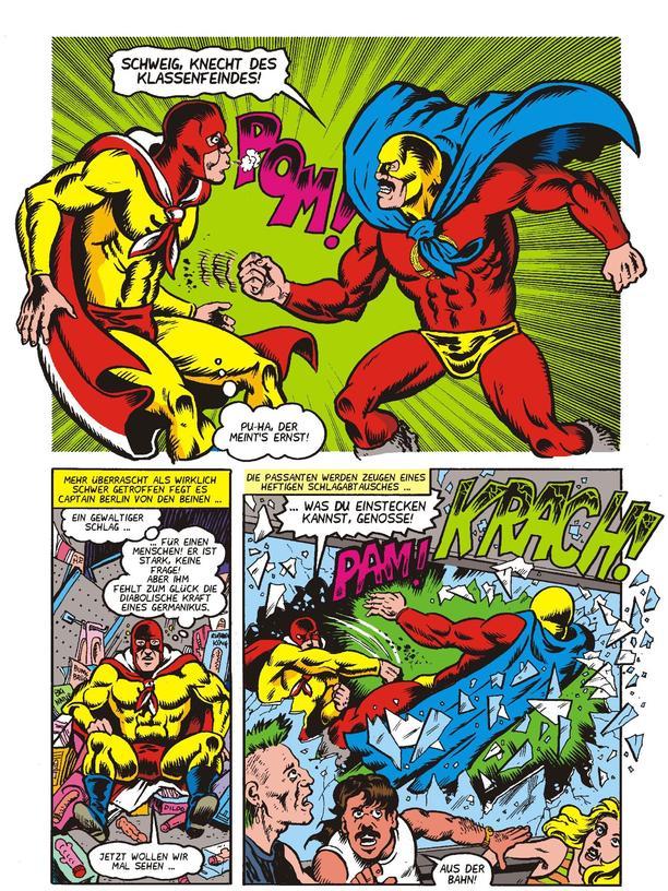 Captain Berlin: Auszug aus einem Comic von Captain Berlin