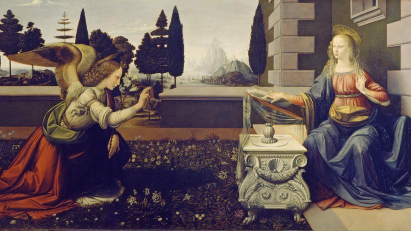 "Thomas Leinkauf: ""Annunciazione"" von Leonardo da Vinci, 1472"