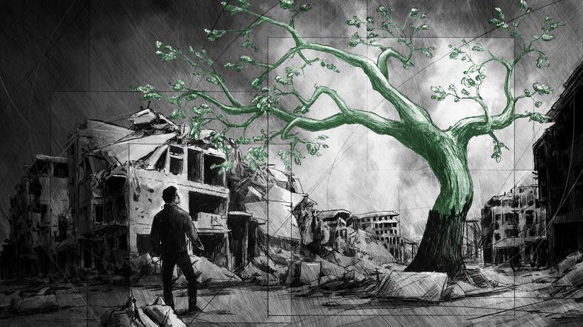 Syrien: Männer sind gefallen, Bäume sind gefallen.