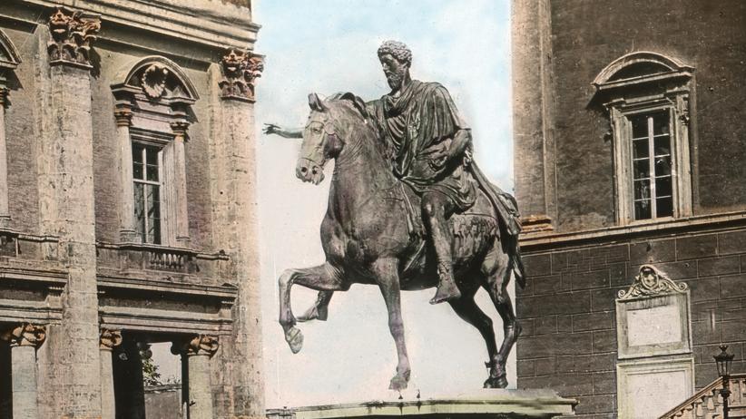 """""""Marc Aurel: Der Kaiser und seine Welt"""": Eine Statue von Marc Aurel"""