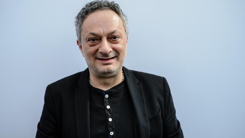 Preis der Leipziger Buchmesse: Der Schriftsteller und Bildhauer Feridun Zaimoglu 2017 bei der Leipziger Buchmesse
