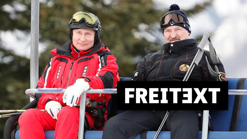 Беларусь: Владимир Путин и Александр Лукашенко в Сочи в феврале 2019