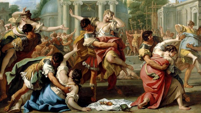 """Lateinunterricht: """"Der Raub der Sabinerinnen"""" auf einem Gemälde des italienischen Barockmalers Sebastiano Ricci"""