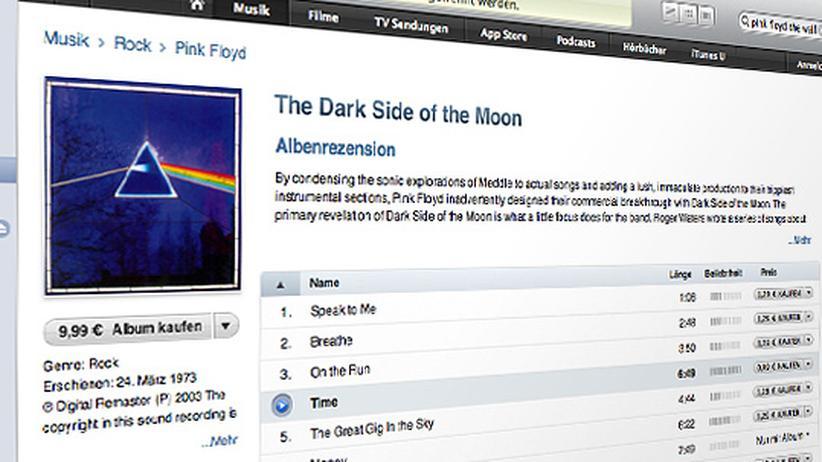 """Contra Pink Floyd: Im Download-Shop nicht mehr lange zu haben: einzelne Titel von Pink Floyds """"Dark Side Of The Moon"""""""