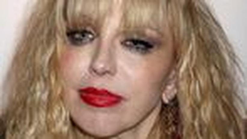 Promi-Rock: Courtney Love, die Klatschskulptur