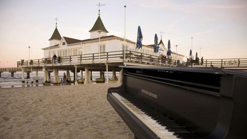 Usedomer Musikfestival: Musik am Strand: Die Seebrücke Ahlbeck auf Usedom