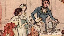 Das Volkslied hielt eroberte auch die Hausmusikzirkel. Hier ein historischer Stich von 1800