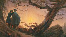 """""""Zwei Männer in Betrachtung des Mondes"""" von Caspar David Friedrich, um 1830 entstanden"""