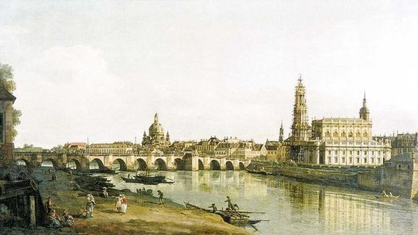 Jan Dismas Zelenka: Blick auf den Dresdener Stadtkern Mitte des 18. Jahrhunderts