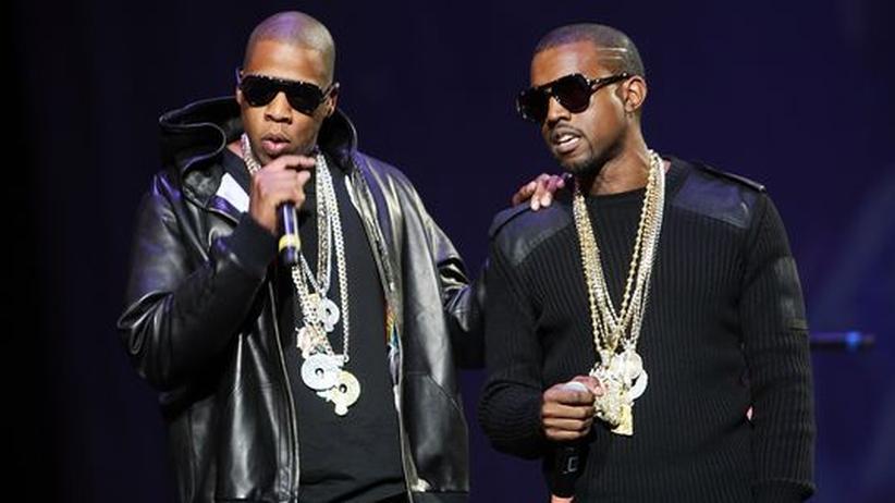 Kanye West und Jay-Z: Die Rapper Jay-Z und Kanye West auf einem Archivbild