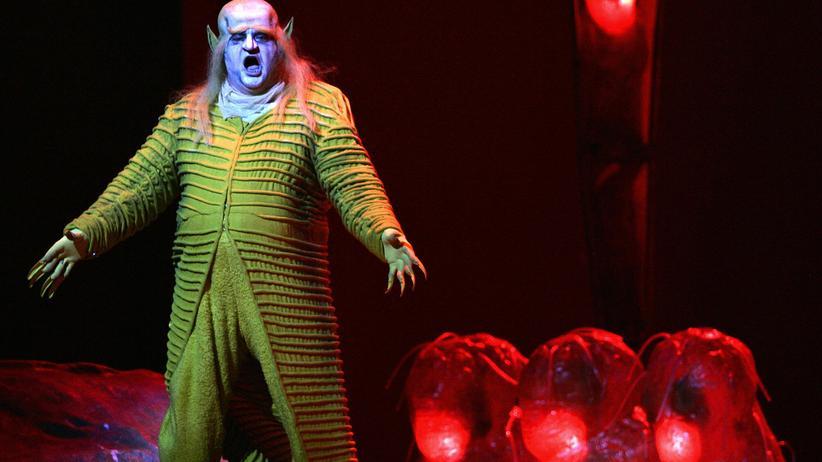 """""""Der Ring des Nibelungen"""": Nikolai Putilin als Alberich während einer Probe für """"Das Rheingold"""" an der Metropolitan Opera in New York"""