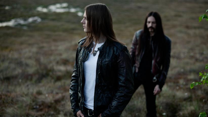 """Norwegische Subkultur: Sigurd """"Satyr"""" Wongraven (vorn) und Kjetil """"Frost"""" Haraldstad sind die aktuelle Besetzung der Band Satyricon."""