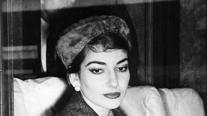 Maria Callas: Maria Callas am Zugfenster, 1958