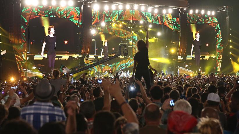 Die Bühne für den Auftritt in Havanna war 80 Meter lang