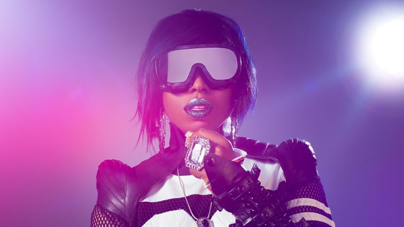 "Missy Elliott: Melissa Arnette ""Missy"" Elliott, geboren 1971 im US-Bundesstaat Virginia"