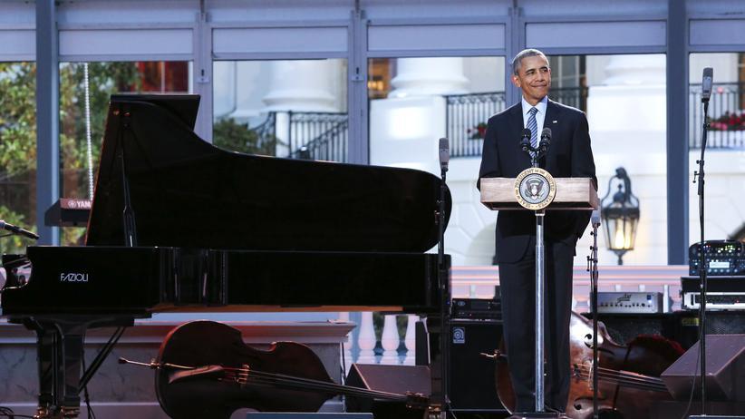 Barack Obama: Der Gastgeber Barack Obama beim International Jazz Day Concert im Weißen Haus
