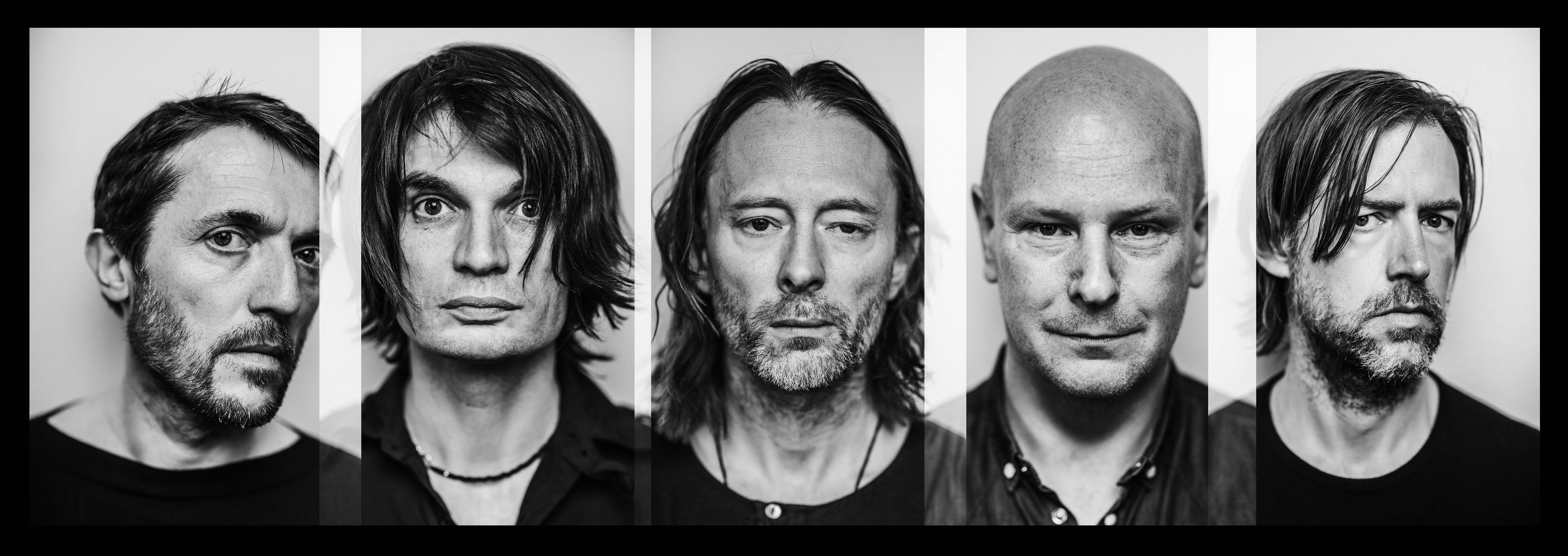 Radiohead: Die britische Band Radiohead um ihren Sänger Thom Yorke (Mitte)
